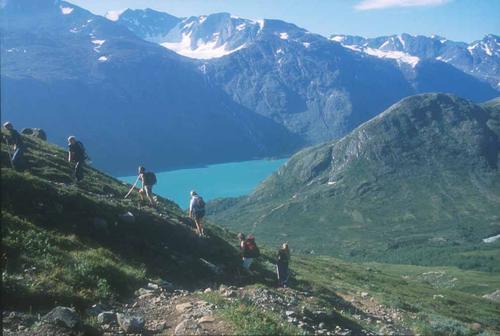 På ruta Memurubu-Besseggen. Foto: Sverre A. Larssen