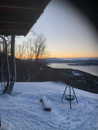 Utsikt fra Gapahuken på vinteren