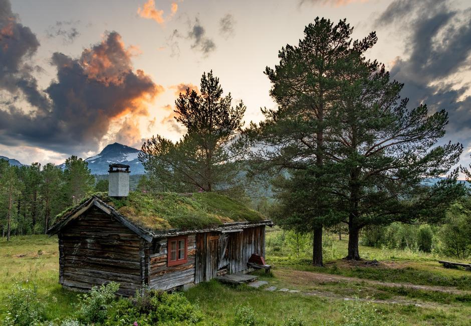 Utsikt ved Trollheimshytta.