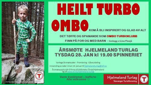 Plakat årsmøte Hjelmeland Turlag