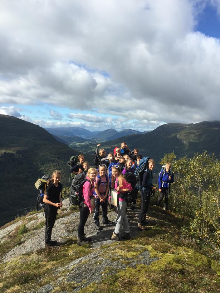 På vei ned mot Hårland