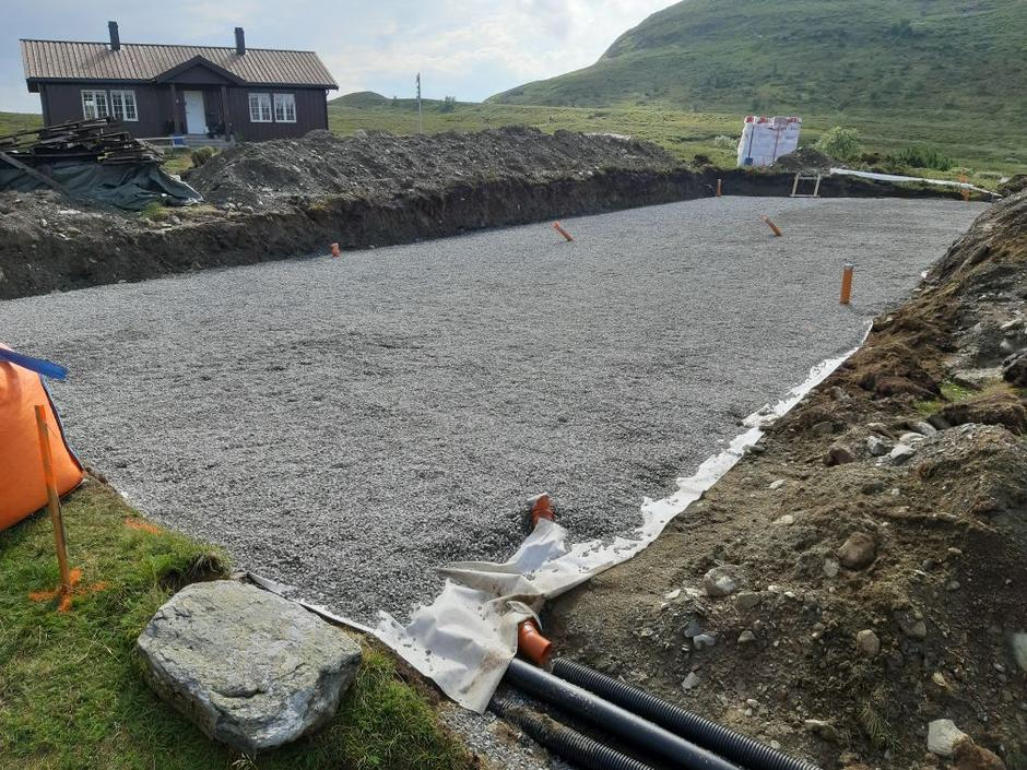 Grunnarbeidet med nye Ramsjøhytta er i gang.