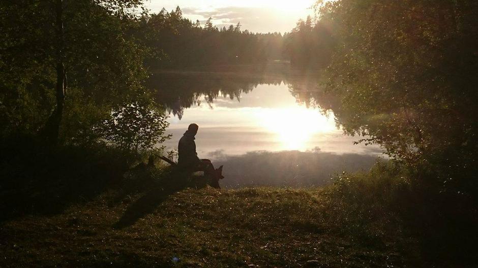 Solnedgang ved Langevannet
