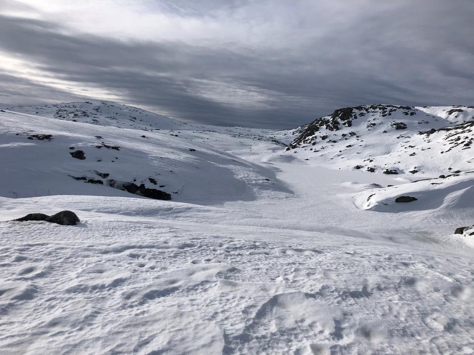 Utsikt Vasstjødn 834 moh på vei mot Børsteinen.
