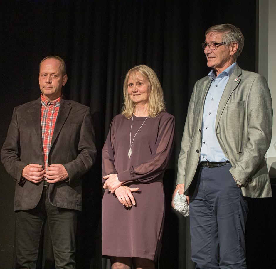 Gode DNT-naboer, her representert ved Magnar Bratlien, Lise Lundby og Kristen Bartnes.
