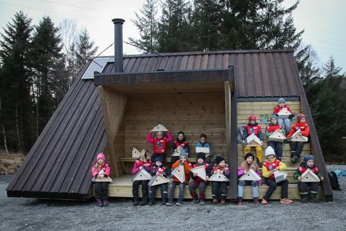 Turboklubben bygde fuglekassar