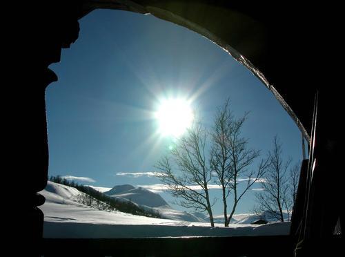 Vinter på Jøldalshytta i Trollheimen