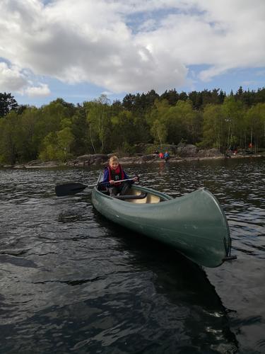 Prøving i kano