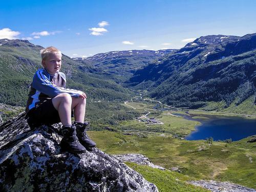 Aurlandsdalen turisthytte ligger flott i Aurdalen