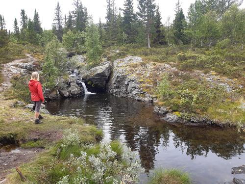 Badekulp nedanfor Rabalsvatnet