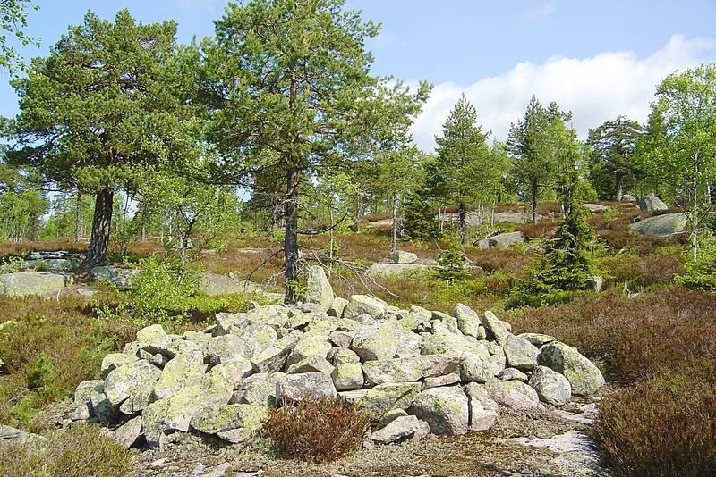 Mulig gravrøys langs Gamle Hadelandsvei, en av de historiske vandrerutene som lanseres i 2018.