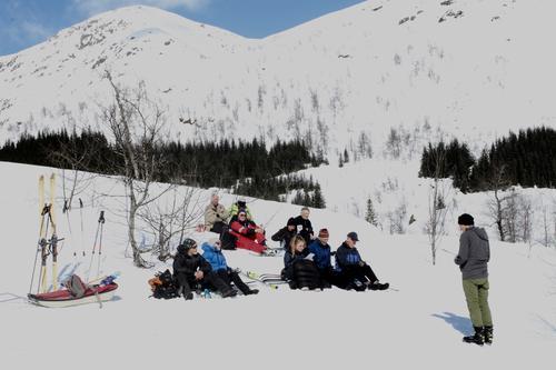 Sportsandakt på skituren