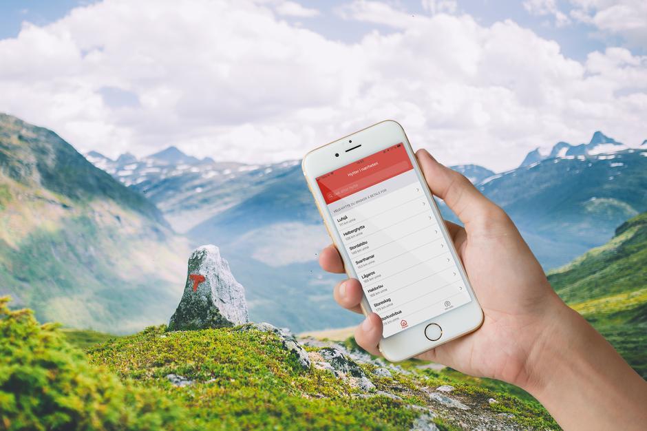 Last ned den nye DNT Hyttebetaling på mobilen din før du skal ut i sommerfjellet!