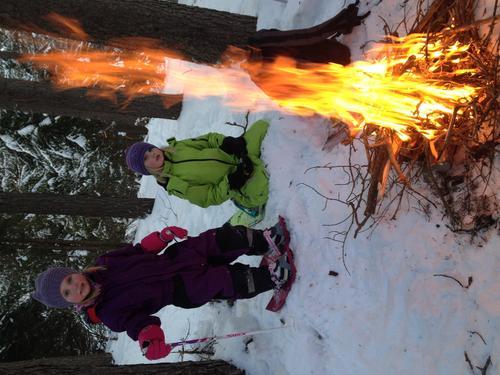 Bål er alltid suksess på tur- trugetur i skogen med Ingrid (7) og Vilde (5). Hovet i Hallingdal😊
