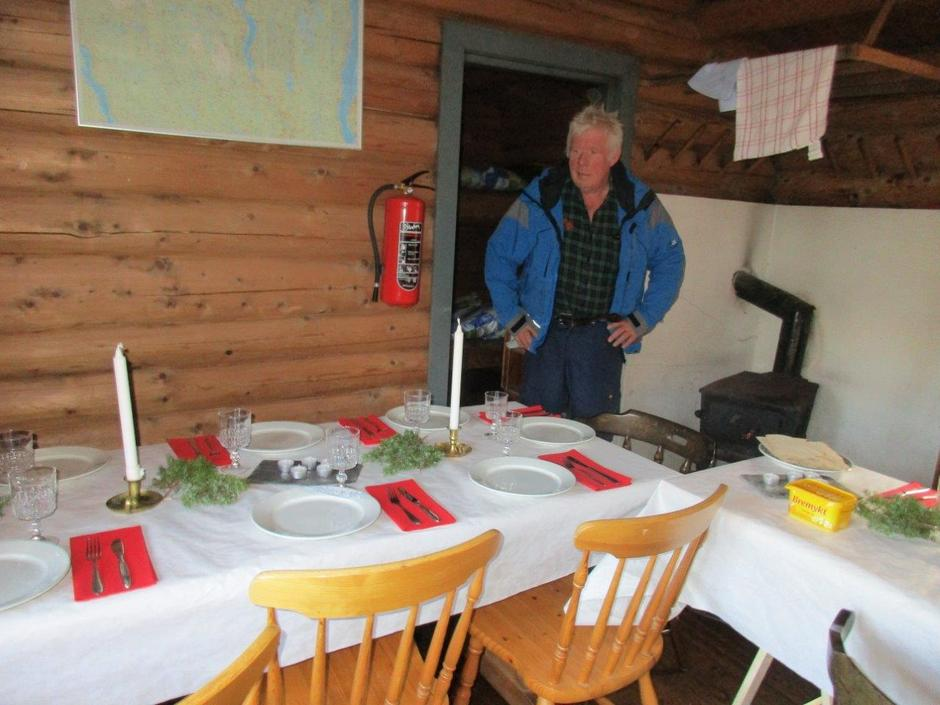 Stein har dekket bordet