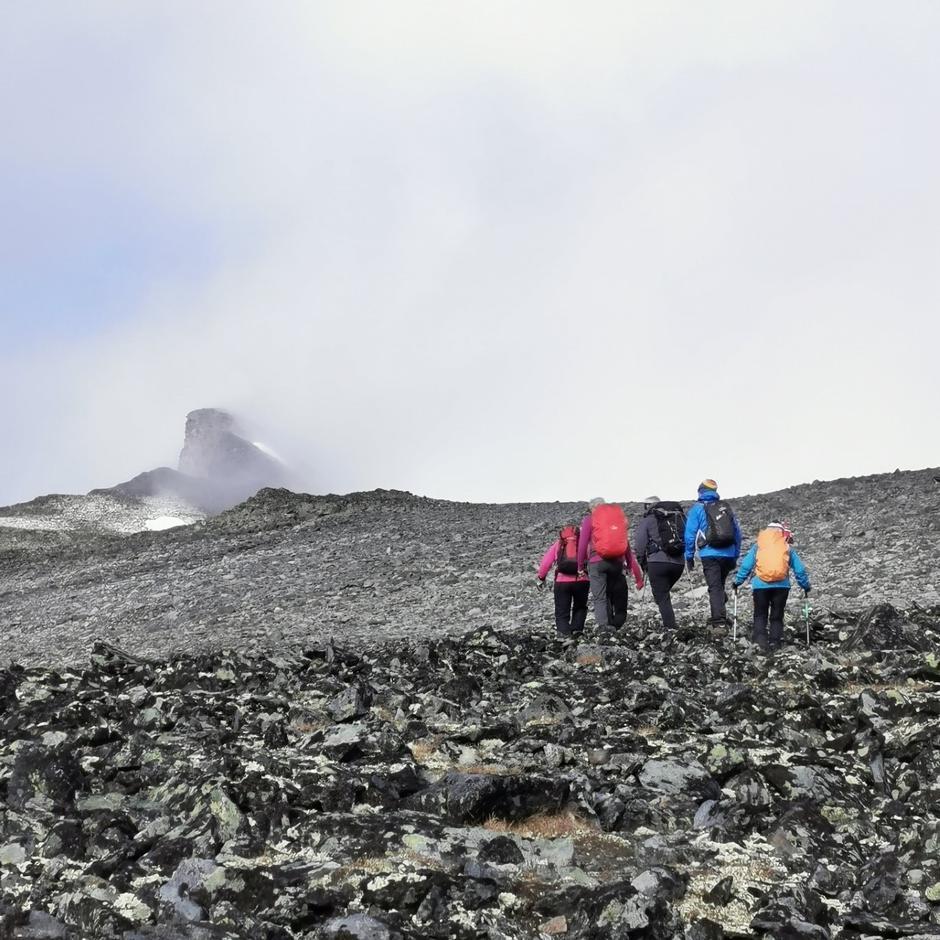 På vei mot toppen av Ryggjehøe
