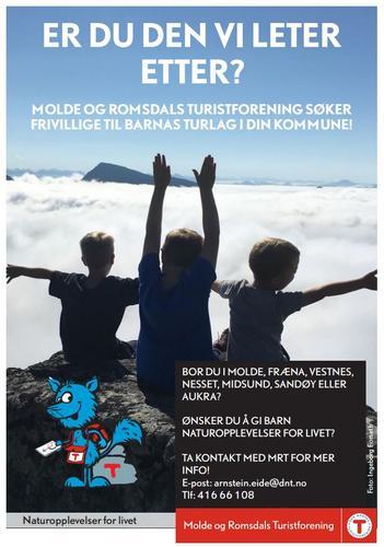 Vi søker frivillige til Barnas Turlag!