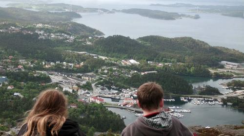 Flott utsikt frå toppen