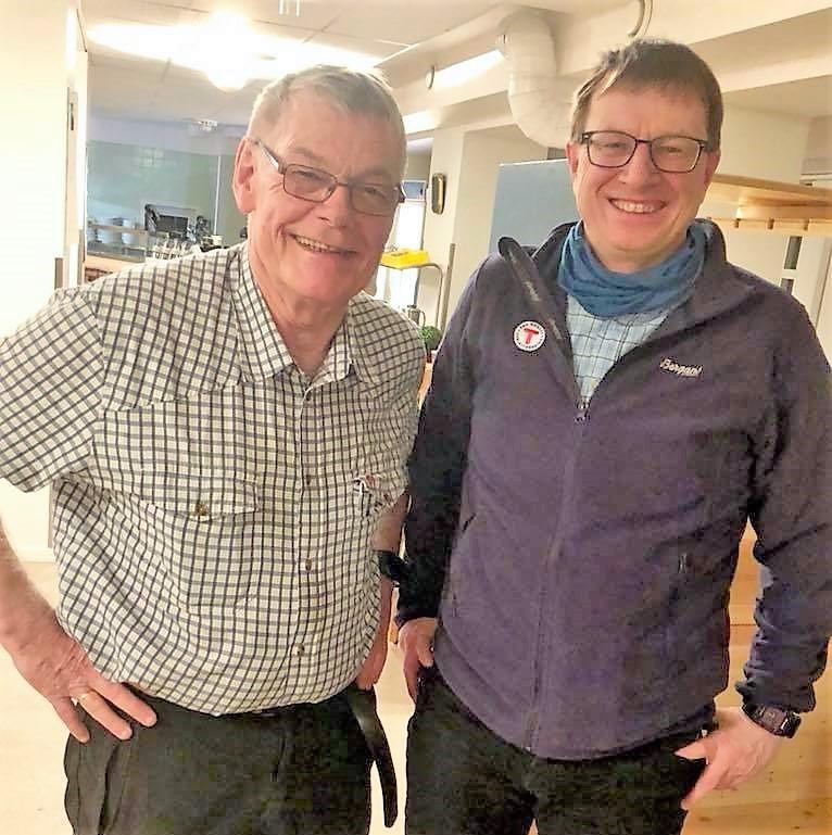 Leder Atle Forbord og Jan Ivar Reiten fra DNT Oslo og Omegn