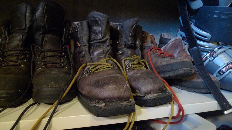 30 år gamle skistøvler er fortsatt i bruk.