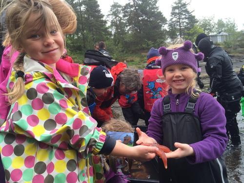 Barnas Turlag på Løvøya 22. mai