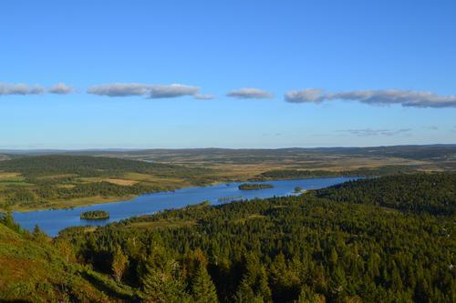 Utsikt over Våsjøen fra Skinnfjellet
