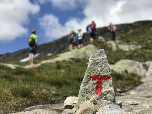 På vei opp til Breidablik fra Fitjadalen.