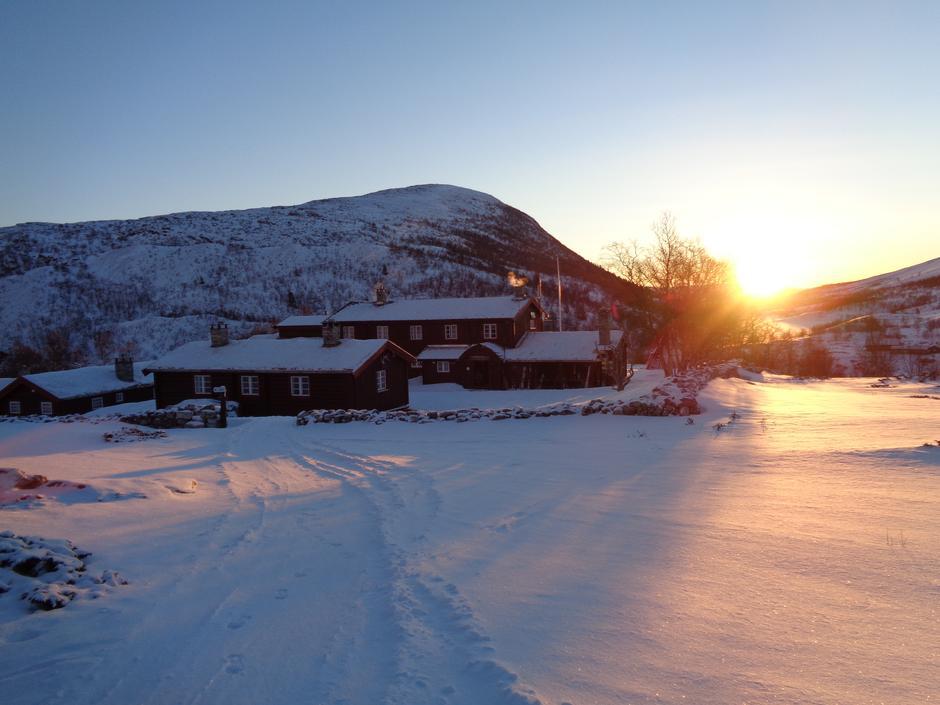 Morgonsol på Bjørnhollia