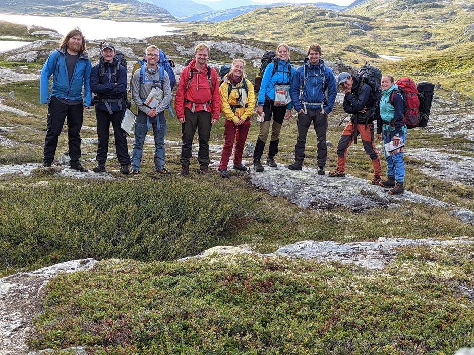 Kursholdere og deltakerne på sommerturlederkurs på Hardangervidda.
