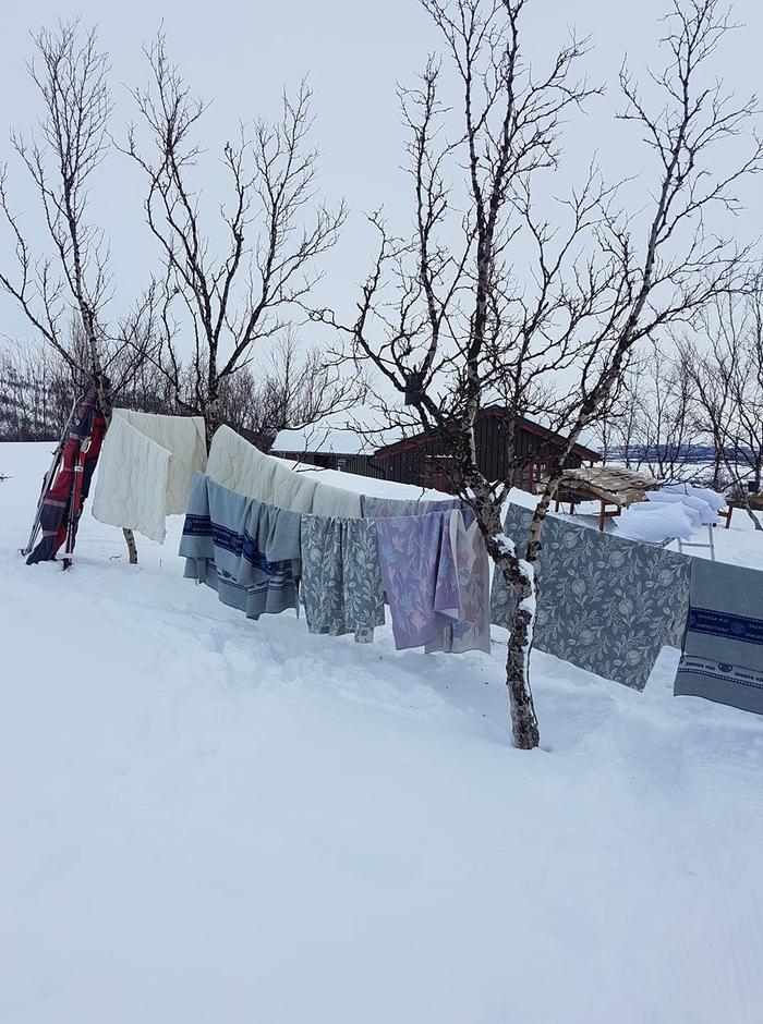 Rundvask og lufting på Gamle Gaskas.