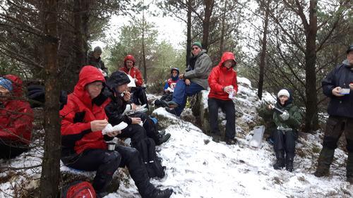 Storaskjenet i Sund i snøvær