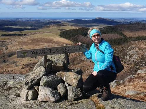 Gro besøkte 100 topper i Sandnes på ett år!