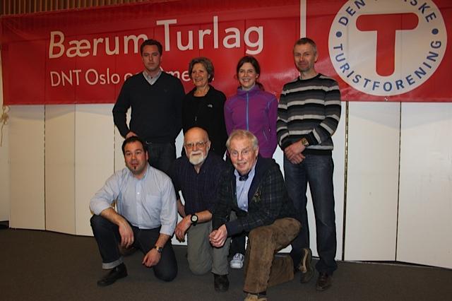 Styret 2012: Bak fra venstre: Johan Fegri, Lise Arnstorp, Gunnhild Holmen, Andreas Eriksen. Foran fra venstre: Christian Fuchs, Einar Skage Andersen (leder), Tor-Herman Næss (nestleder)