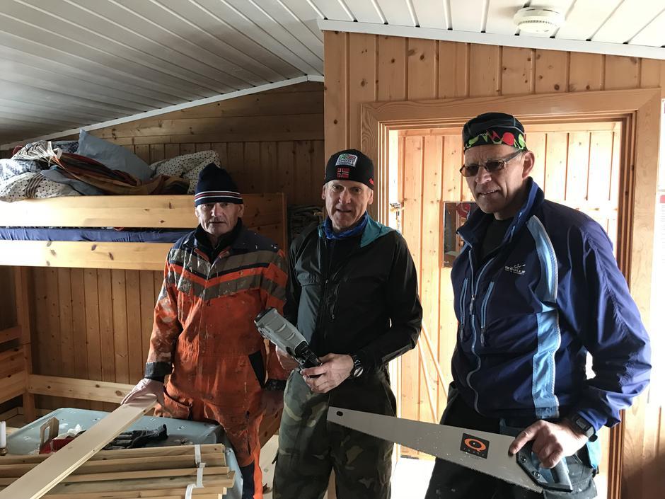 Fra venstre:  Dagfinn Myhren, Oddvar Vehusheia og Svein Sivertsen