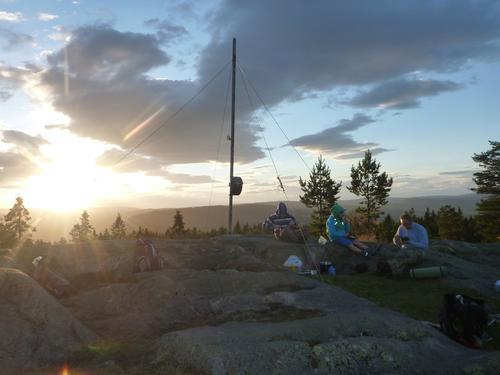 Solnedgang på Nordre Kolsåstopp august 2015