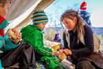 Jutulcamp for barn ved Gjende i høstferien