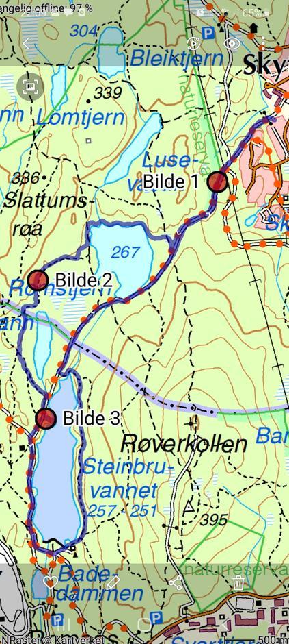 Kart over turen
