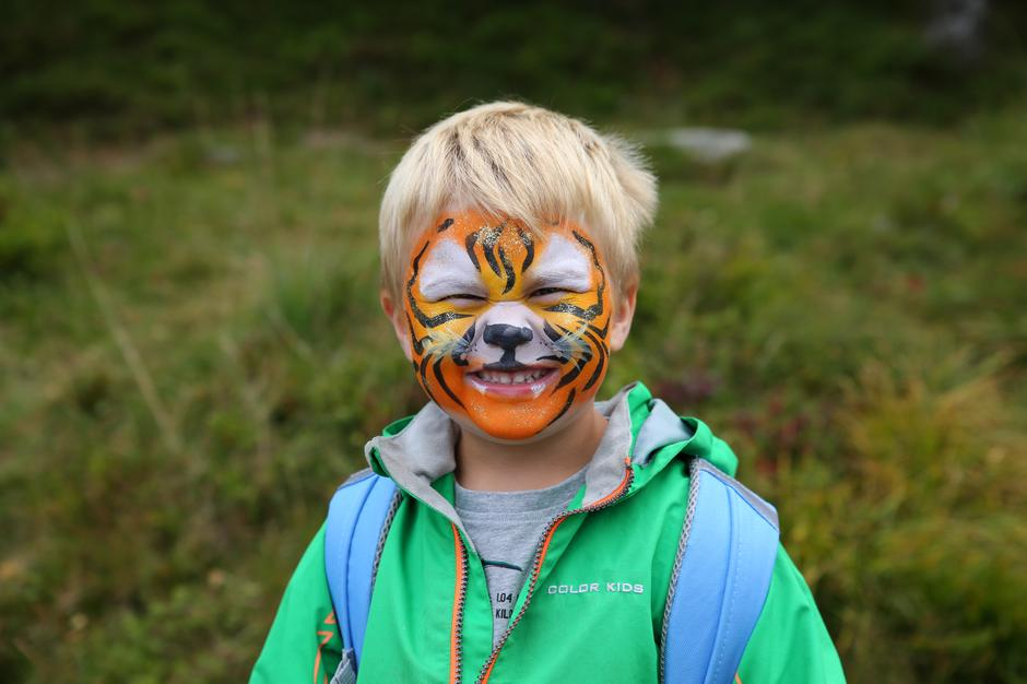 Gøy med ansiktsmaling! Kom deg ut-dagen i Bergen høsten 2018