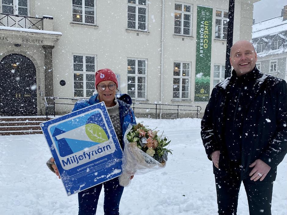 Vertskap Jorunn K Tveiten og ordfører i Tinn Steinar Bergsland