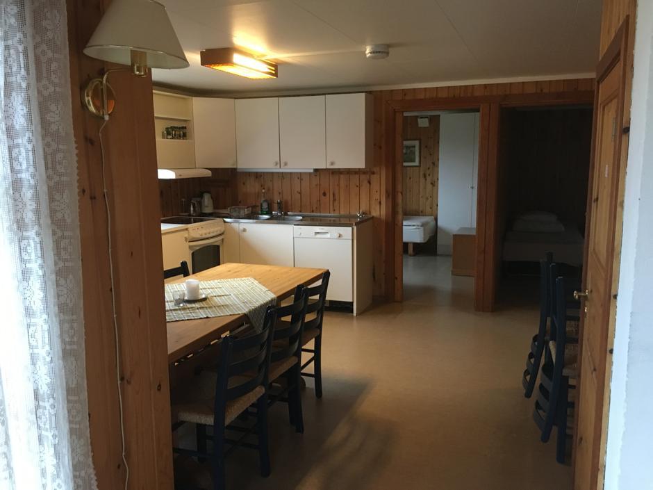 Kjøkken sett fra stua