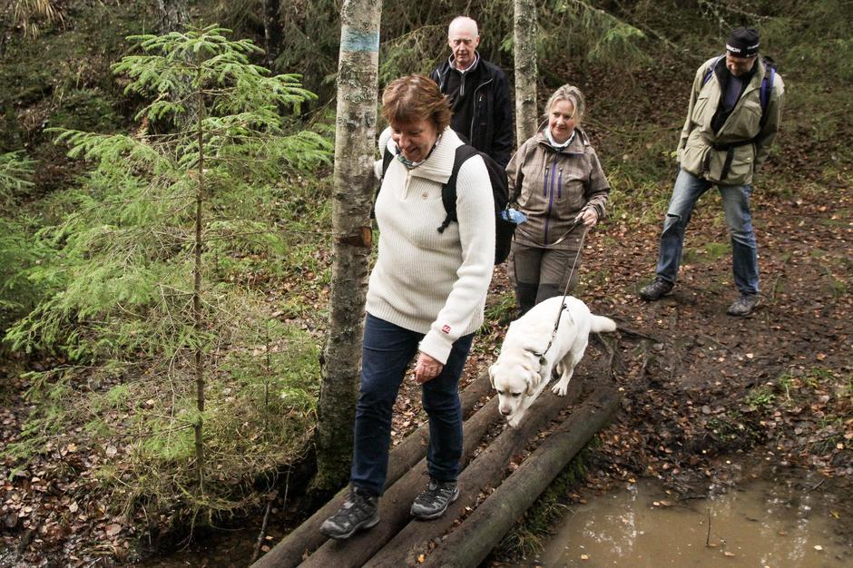 Ordfører Marianne Borgen tok turen til åpningen av Dølerud.
