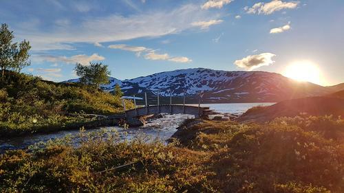 Vakkert å komme til Ramsjøhytta. Fra Norge på tvers turen i starten av ferien, et eventyr! Igjen, takk til DNT.