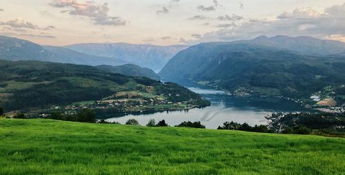 Panoramabilde av Ulvik.