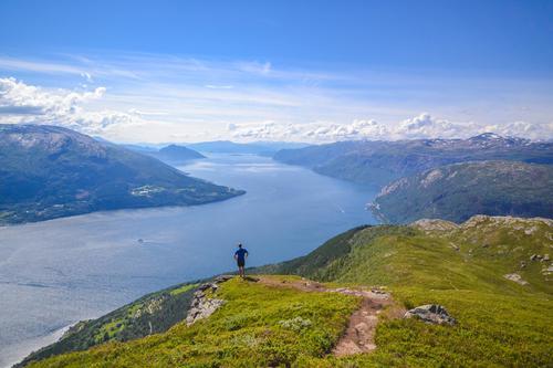 Utsikt fra Oksen i Hardanger