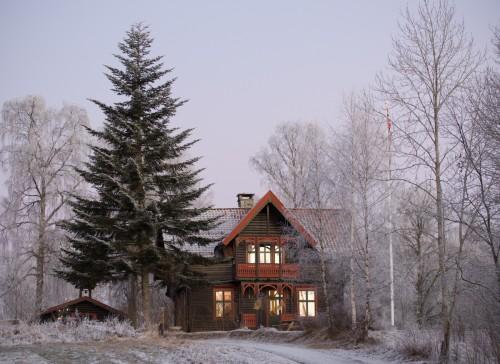 Sæteren i vakkert vinterlys