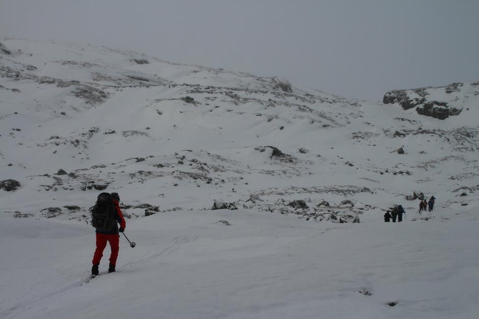 På vei til Sandvatn 19 januar.
