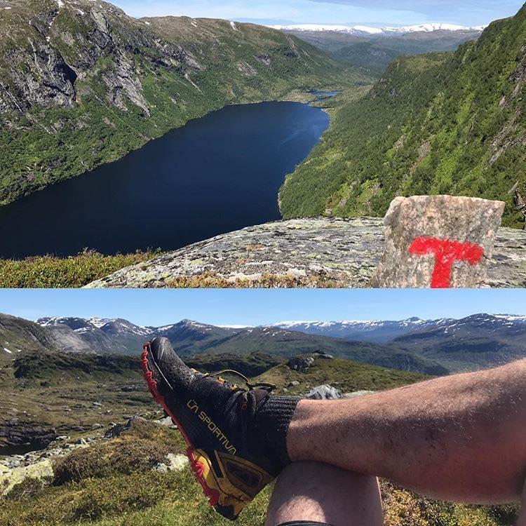 Dette biletet gav fotografen eit gåvekort på 1000 kroner. Vi ser Trodalsvatnet frå Einehaugfjellet.