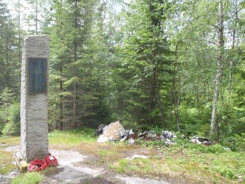 Minnesmerket ved Andtjernåsen.