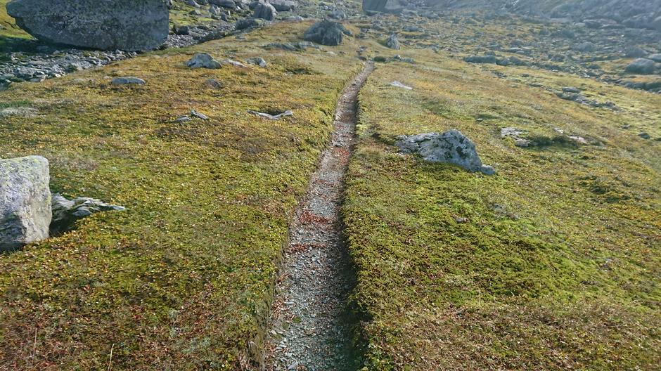 Litt lenger ned i dalen fra Snønuten mot Kyrkesteinsdalen.