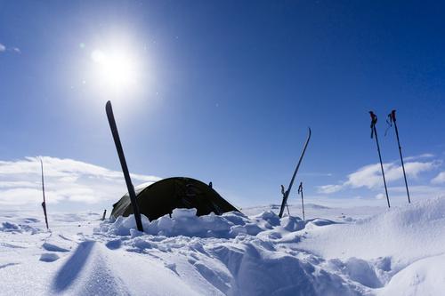 Vintertelting på Finse